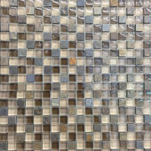 Marfil and Glass Mosaic Wall Tile (M815099) pictures & photos