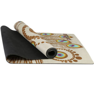 Natural Tree Rubber Yoga Mat Non-Slip Suede Yoga Mat with Custom Printing pictures & photos