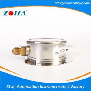 Resistance to Vibration Add Oil Manometer with Flange pictures & photos
