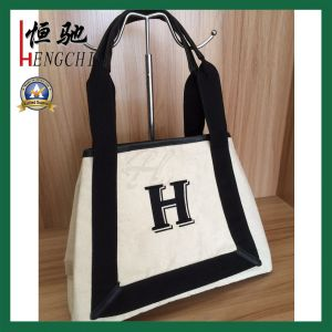 Handmade Durable Online Selling 100% Cotton Tote Shopping Bag pictures & photos