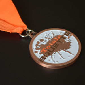 Die Struck Iron Soft Enamel Medal with Ribbon pictures & photos