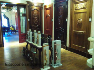 Classical Style High Quality Solid Wooden Door with White Colour for Hotel Apartment School (DS-046) pictures & photos
