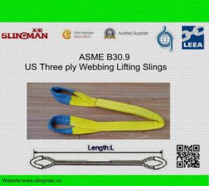ASME B30.9 Us Three Ply Webbing Lifting Slings (TS-W08-08)