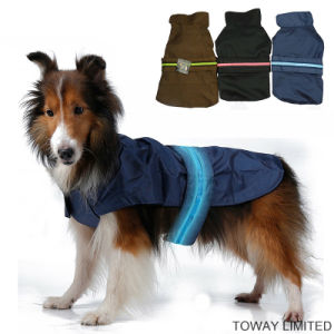Waterproof Raincoat Safety LED Night Pet Clothes LED Dog Jacket pictures & photos