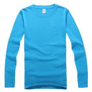 Logo Custom Long Sleeve Soccer Plain T Shirt pictures & photos