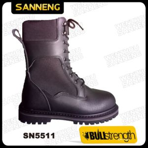 Black Leather Goodyear Outsole Amy Boots Sn5511 pictures & photos