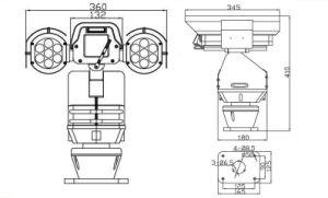 20X 2.0MP CMOS 100m Night Vision IR HD IP PTZ CCTV Camera (SHJ-HD-TC) pictures & photos
