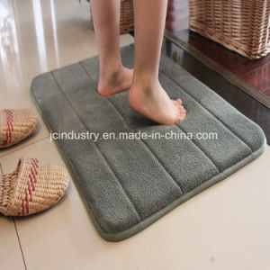 Memory Foam Bath Rug with Coral Fleece Surface pictures & photos