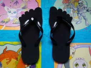 Basic PVC Strap EVA Flip Flop with Printing Logo pictures & photos