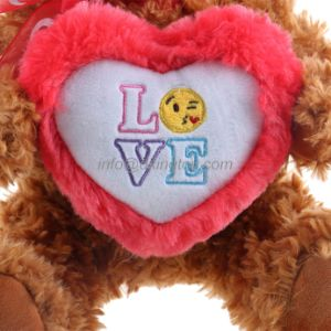 Wholesale Custom Plush Teddy Bear Kids Toy with Emoji Heart pictures & photos