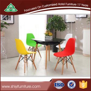 Various Color Fabric Chair Simple Dining Chair Wood Legs Office Chair Home Furniture pictures & photos