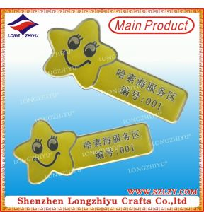 Metal Printing Name Badge Gold Safety Pin Name Badges pictures & photos