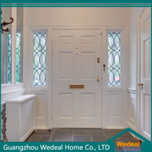 Double White Solid Wooden Entry Door with Hardware pictures & photos
