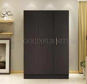 Factory Price Cheap New Wooden Bedroom Wardrobe Closet (SZ-WDT003) pictures & photos