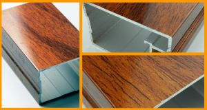 Wood Grain Transfer Aluminum Extrusion for Door and Window pictures & photos