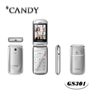 Mt6260d Flip Phone for Elder with Big Letter pictures & photos