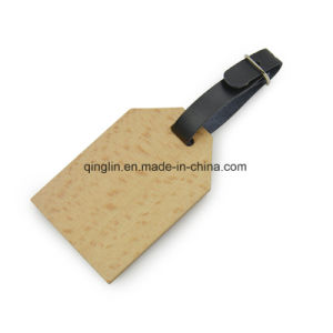 Custom Novelty Design PU Leather and Metal Luggage Tag pictures & photos