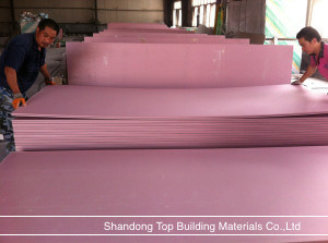 Water Proof Gypsum Board /Gypsum Board /Plaster Board/Shandong Top Materials Co., Ltd/1200*2400/1220*2240*9/12/15mm pictures & photos