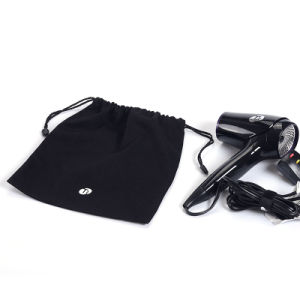 Black 100% Cotton Drawstring Pouch Storage Pouch for Hair Drier pictures & photos