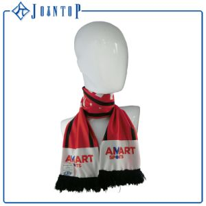 Hot Sell Fashion Cheap Customized Club Logo Printed Designs Football Team Soccer Fan Knitted Scarf pictures & photos