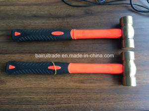 16oz Copper Ball Pein Hammer with Fibre Handle pictures & photos