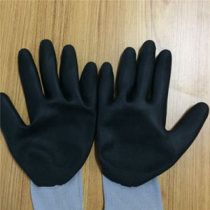 Nitrile Touch Screen Nylon Gloves, Ultrathin Foam