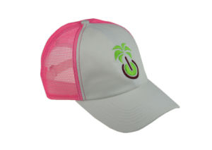 Pink/White 6 Panels Cotton Snapback Trucker Hat with Embroidery pictures & photos