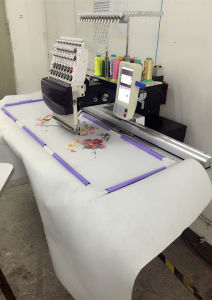 Single Head Embroidery Machine, Texitle Embroidery Machine, Flat & Cap Embroidery pictures & photos