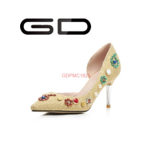 Factory Customized Ladies All Dimond Colorful Shoes Thin High Heel Shoes