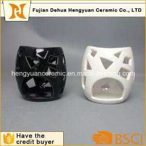 Ceramic Circular Hollow Candle Holder Incense Burner pictures & photos