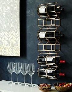 Chrome Wire Metal Wine Rack Bottle Display Shelf Power Coated pictures & photos