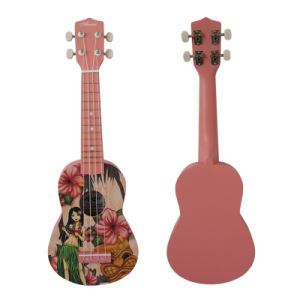 Aiersi Hawaii Girl Pattern Decal Colour Soprano Ukulele pictures & photos