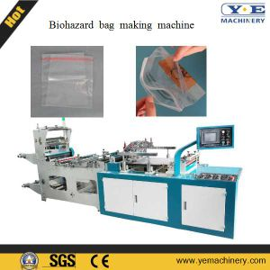 Specimen Biohazard Zipper Bag Making Machine with Side Pocket pictures & photos