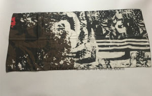 Cotton Quality Promotion Logo Printed Polyester Scarf (HWBS902) pictures & photos