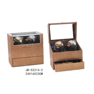 PU Leather Mens Watch Box Double Watch Winder