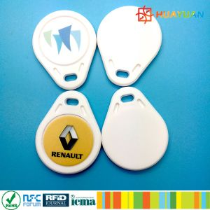 Intaglio printing ABS MIFARE Classic 1K RFID Keyfobs for Access Control pictures & photos