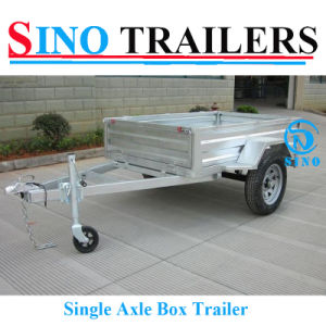 7X4 Bolted Box Trailer with Mesh Cage pictures & photos