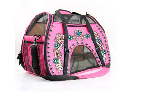 Pink Blue Pet Carrier Hand Bag, Dog Traveling Bag pictures & photos