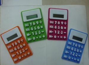 Portable 8 Digits Refrigerator Magnetic Silicone Foldable Calculator pictures & photos