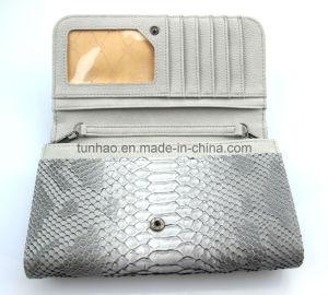 Snakeskin Grain PU Leather Lady Mini Flap Handbag Card Organizer pictures & photos