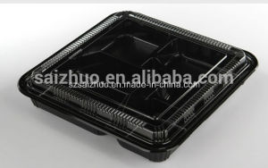 1100ml 5 Compartment Thickness Disposable Plastic Bento Lunch Box pictures & photos