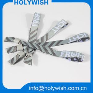 Custom Souvenir Item Event Fabric Festival Polyester Wristband pictures & photos