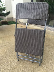 Wholesale New Imitation Rattan Plastic Folding Chair, Garden Chair, Outdoor Leisure Chair pictures & photos