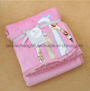 Emborider Solid Micro Mink Baby Blanket Sft01bb190 pictures & photos