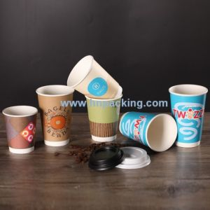 12oz Double Wall Paper Hot Coffee Cups for Sale pictures & photos