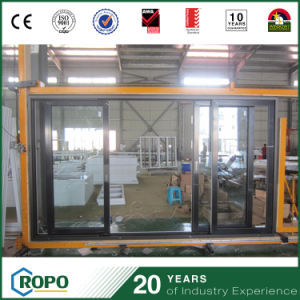 Aluminium Sliding Double Glass Outside Door with Locks pictures & photos