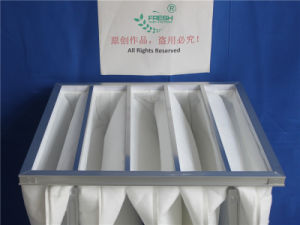 Wedge-Shape Hot Melting Synthetic Fiber Bag Filter pictures & photos