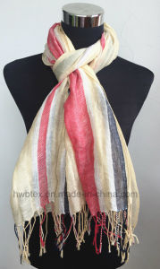 Factory New Arrival Women′s Linen Shawl / Scarf (HWBL02) pictures & photos