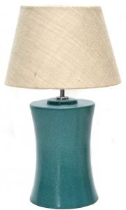 B60-716 Green Colour Hotel Table Lamp with Linen Shade