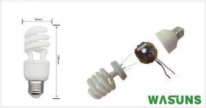 9W E27 Half Spiral CFL Electric Bulb Energy Savers pictures & photos